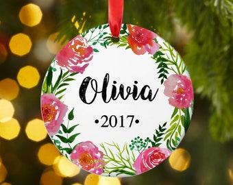 Friend Christmas ornament, Friend gift, Personalized Christmas ornament, Christmas ornament, ceramic, permanent