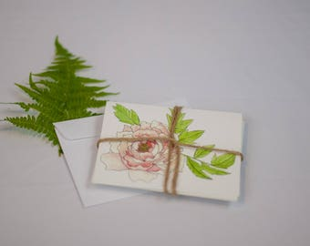 Greeting Cards Set of Five Original Artwork