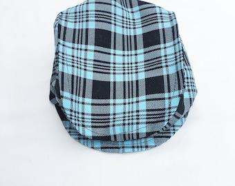 Boys Aqua Plaid Newsboy Hat, Toddler Plaid Newsboy Hat, Turquoise Newsboy Hat Boys Driving Cap, Boys Golf Hat, Baby Boy Hat Boys Summer Hat
