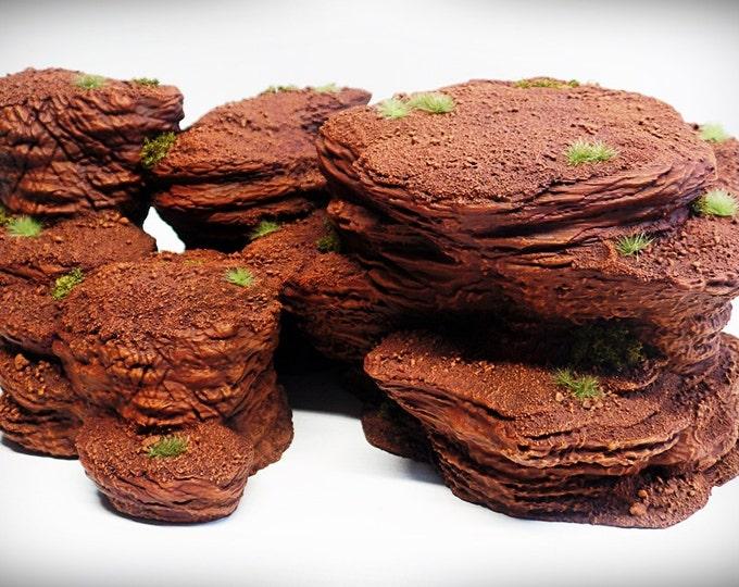Wargame Terrain - Multi-Spire B – Miniature Wargaming & RPG rock formation terrain - 13.5x9x4.5 inches
