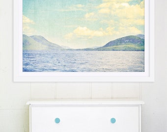 """Large Wall Art Nature Photography // Serene Landscape for Modern Home // Large Water Print // Landscape Photography """"Greetings From Nowhere"""""""