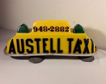 Vintage 1960s Taxi Cab Roof Light