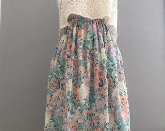 Michelle midi skirt - beautiful vintage fabric- size 6-8