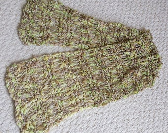 Small, Light and Airy Scarf, Perfect for Fall and Spring, Hand Knit of Designer Yarn