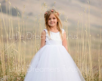 The Juliet Dress in White - Flower Girl Tutu Dress