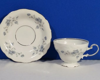 Johann Haviland Blue Garland Tea Cup And Saucer Bavaria Germany Replacement