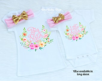 Big Sister Little Sister Outfits, Little Sister Shirt, Big Sister Gift, Big Sister Shirt, Big Sister Announcement, Big Sister Reveal BSLS2LP