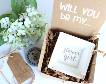 Flower Girl Dish Gift - Will You Be My Flower Girl - Flower Girl Proposal - Gift for Flower Girl - Flower Girl Gifts