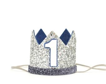 Boy Birthday Crown Of Glitter | Birthday Crown Boy | Boy Birthday Outfit | Boy Party Hat | Boy Cake Smash | Boy Birthday Party Hat
