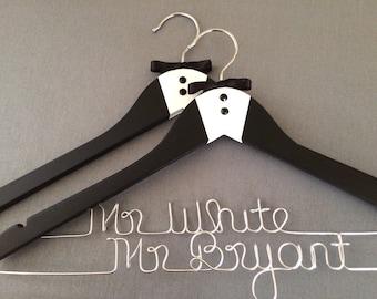 Groom Hanger, Personalized Wedding Hangers, Groom Gift, Engagement Gift, Wedding Gift, Bridal Hangers, Wedding Photo Prop, Tux Hanger
