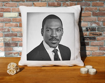 Eddie Murphy Pillow Cushion - 16x16in - White