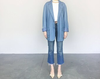 Light Denim Oversized Blazer (L)