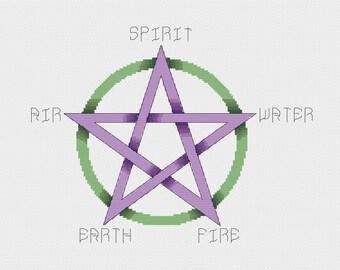 Cross Stitch Pattern - Pentacle