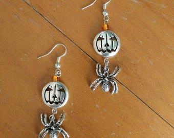 Tarantula/Pumpkin earrings