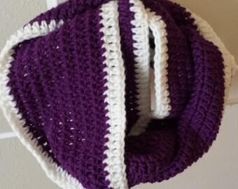 Crochet Infinity Scarf - Infinity Scarf - Crochet Scarf - Handmade Scarf - Fall Scarf - Winter Scarf - Purple Scarf - Handmade - Scarf