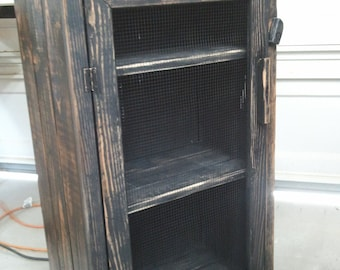 distressed wood jelly cabinet