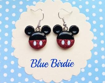 Mickey Mouse dangle earrings Disney jewelry Disney earrings Mickey Mouse jewelry Mickey Mouse earrings Mickey Mouse jewellery Minnie gifts