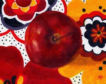 Kitchen Decor Still Life, Kitchen Art, Still life painting, Apple painting, Food art, fruit still life, wall art,