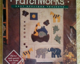 Bucillas Patchworks Applique Wall Hanging Kit Two By Two  Trice Boerens Easy Applique Projects 41412  B24