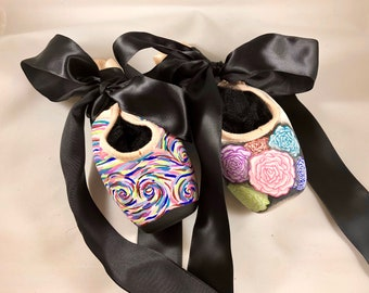 Modern Art Carnations Pointe Shoes