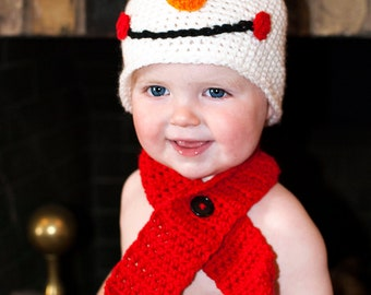 PDF Instant Download Snowman Hat Pattern (Baby-Adult Sizes)