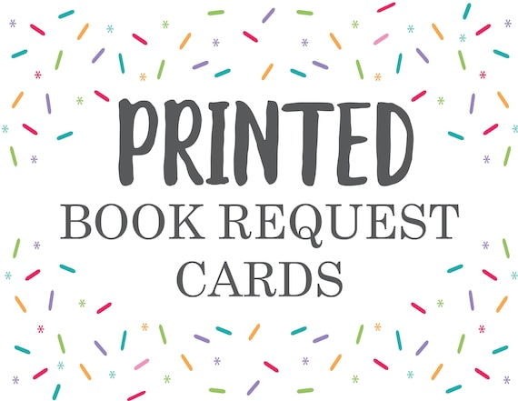 Book Request Professional Printing Service