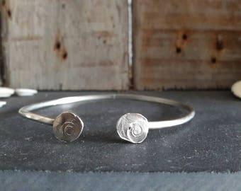 Arm cuff/ bracelet with spiral details