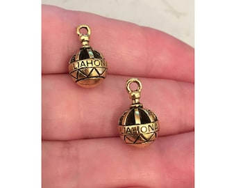 Liahona gold CHARM (2) LDS charm gold - 2 charms per pack
