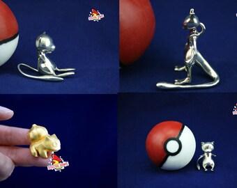 3D Printed Pokemon, Pokemon in Pokeball Soap, Choice of Metal, Pokemon 3D print, 3d Pokemon Printed, Printed 3D Pokemon, Printed Pokemon 3D