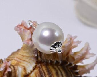 12 mm genuine pearl Pendant Baroque Pearl Drop Pearl Wedding Bridesmaid Gift Ideas Gemstone Pendant