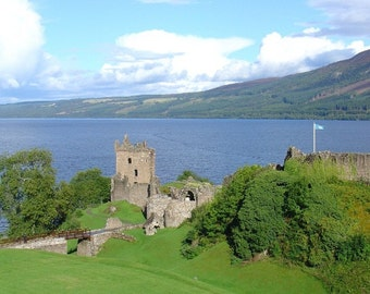 Urquhart Castle Loch Ness Scotland 5x7 Glossy Photograph Alba Ranch Landscape Photography