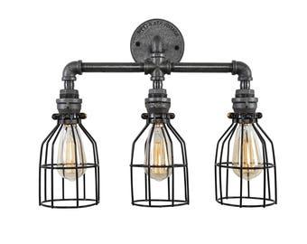 Light Fixture - Lighting - Wall Light - Womens - Industrial Chic - Metal Light - Chair - Decor - Industrial Furniture - Steel Light - Lights