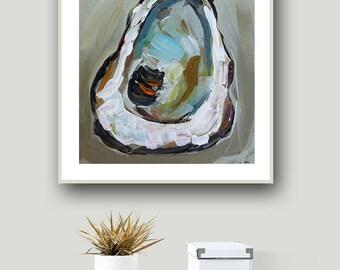 Oyster Shell, Oyster Shell Print, Coastal Art, Seashell, Oyster Painting, Print of Painting, Beach House Decor, Oyster Decor, Coastal