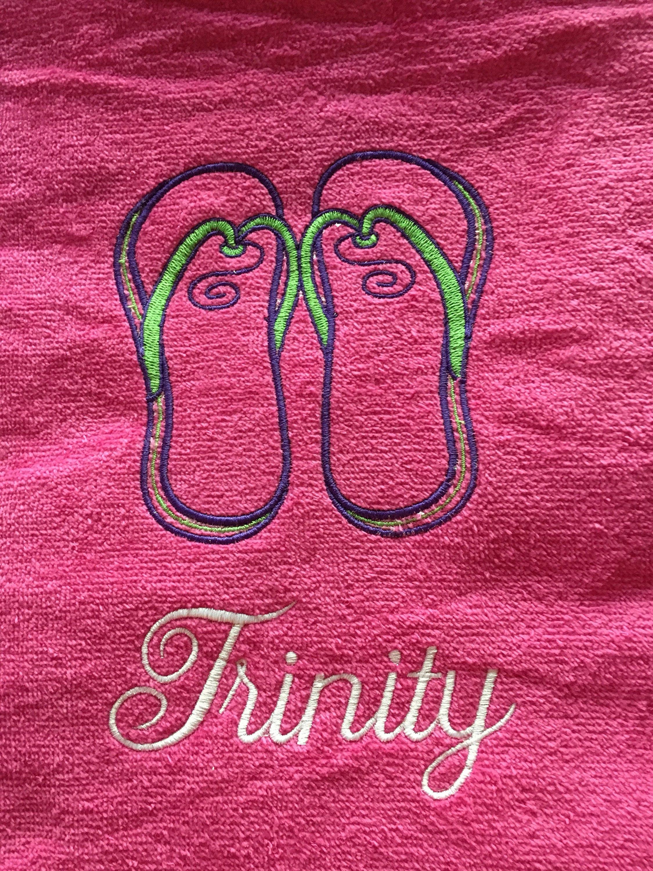 Flip flops beach towel custom personalized beach towels kids