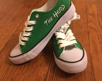 Marshall University Hand Painted Shoes