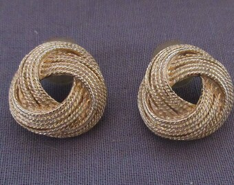 Pair of Rope Design Earrings
