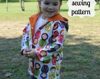 April Showers Jacket ~ instant download PDF sewing pattern