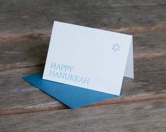 Hanukkah card, letterpress printed