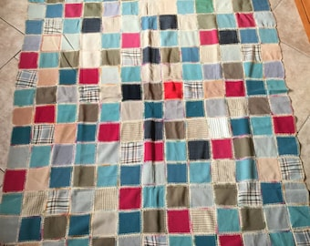 Cute Vintage 1930's All Wool Quilt with Embroidery