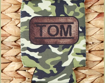Groomsmen Gifts Camo Camouflage Custom Can Cozies Personalized Beer Sleeves, Bachelor Party Favors Can Coolie Beer Cozy Can Cooler