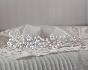 Bridal Pearl Headband, Pearl Hair Vine, Pearl Hair Piece, Pearl Headpiece, Wedding Headpiece, Pearl Headband, Pearl Hair Accessories