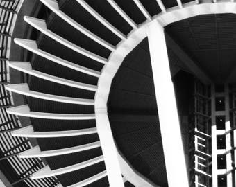 Eye Of The Needle | Seattle Space Needle | Black and White Photography Print