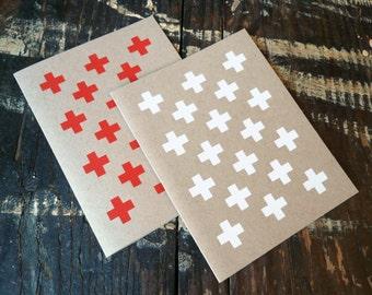 "Silkscreen Stationery / Folded Card  ""+"""