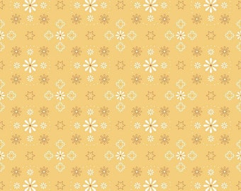 """Bee Backings! - Quilt Back Fabric - Riley Blake - by Lori Holt - 108"""" wide - Honey - Yellow"""