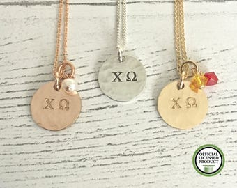Chi Omega Necklace - Chi Omega Jewelry - Sorority Necklace - Sorority Jewelry - ChiO Sorority Jewelry - Big Little Jewelry