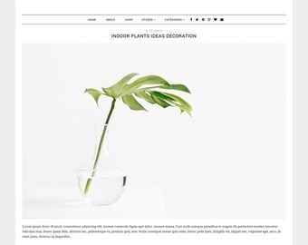 "Blogger Template ""Madison"" - responsive blog theme - photography blog theme - wide blog template - minimalist blog template"
