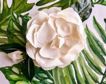 Vintage Gardenia Flower Pin