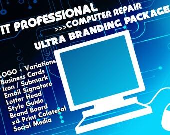 IT Professional, Computer Repair, Branding Package, Marketing Package, Business Cards, Branding Kit, Marketing Kit, Brand Package