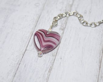 Purple Heart Charm Extender, Heart Charm Extender, Purple Heart Planner Charm, Purple Charm, Planner Charm Bracelet, Purse Charm, TN Charm