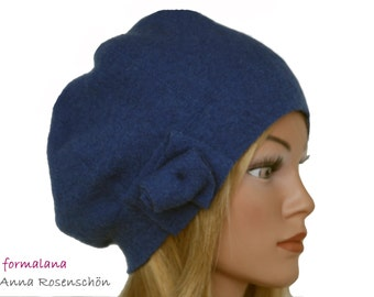 blue Beanie,100% wool, hat, cap